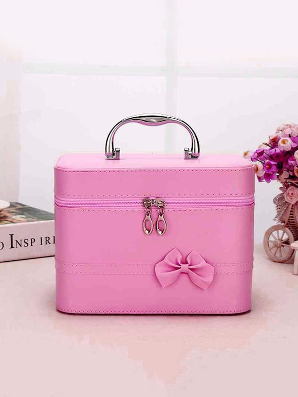 Bow Decor Cosmetic Storage Box