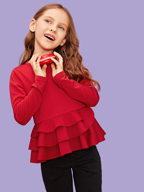 Layered Ruffle Hem Top - Truly Yours, Fashion