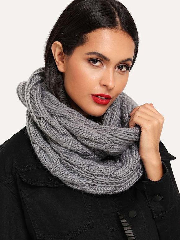 Cable Knit Infinity Scarf - Truly Yours, Fashion