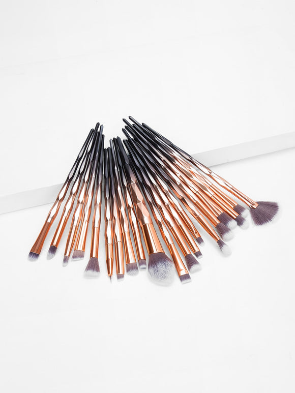 Ombre Handle Makeup Brush 20pcs - Truly Yours, Fashion