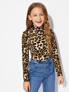 Mock-Neck Leopard Tee - Truly Yours, Fashion