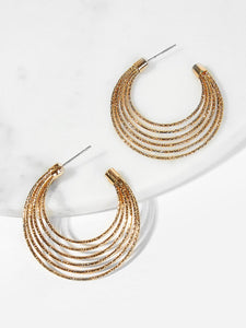 Layered Open Hoop Earrings - Truly Yours, Fashion