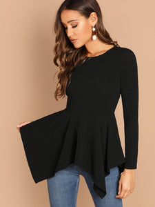 Hanky Hem Textured Top - Truly Yours, Fashion