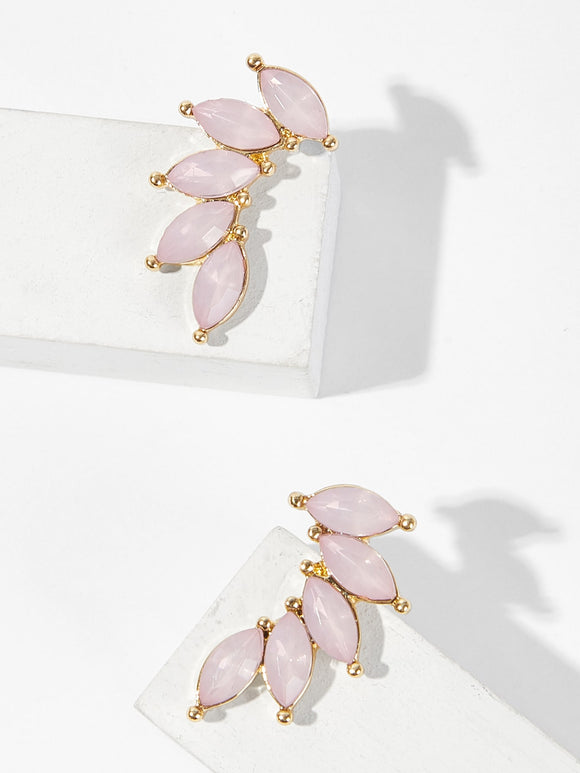 Petal Shaped Stud Earrings - Truly Yours, Fashion