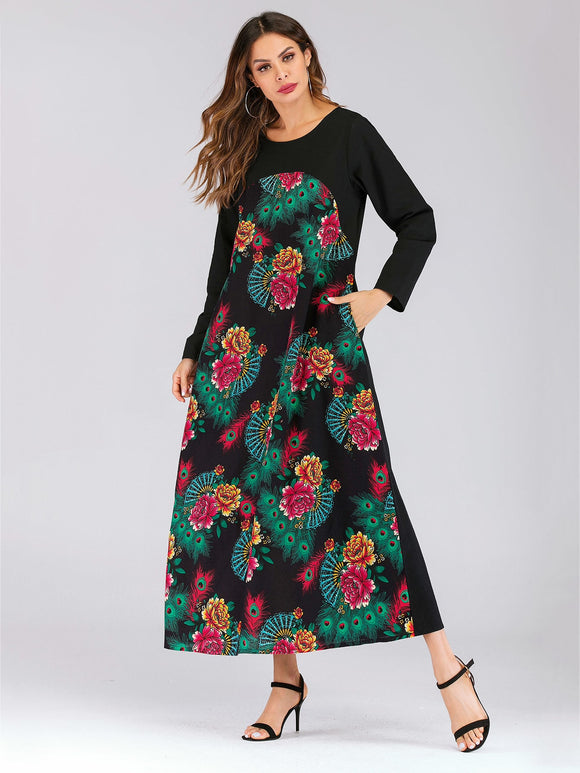 Floral Print Hidden Pocket Longline Dress - Truly Yours, Fashion