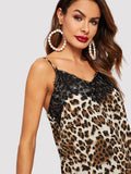 Lace Trim Leopard Cami Top - Truly Yours, Fashion