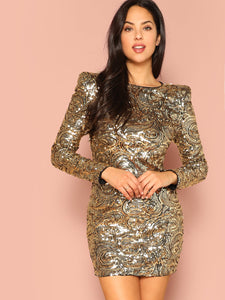 Form Fitting Sequin Dress - Truly Yours, Fashion