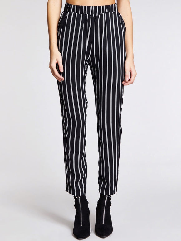 Vertical-stripe Straight Leg Pants - Truly Yours, Fashion