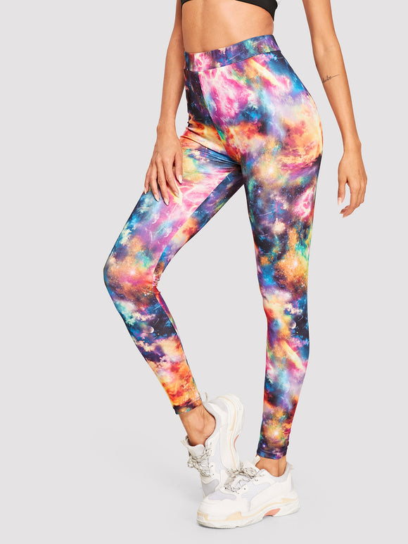 Galaxy Print Leggings - Truly Yours, Fashion