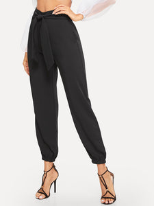 Solid Knot Front Pants