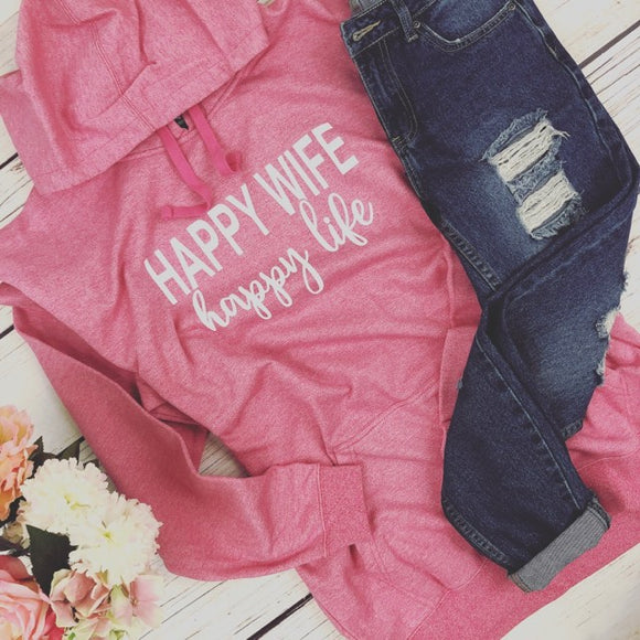 Happy Wife Hoodie - Truly Yours, Fashion