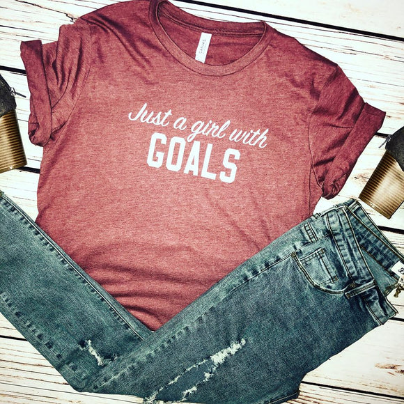 Just A Girl With Goals Tee - Truly Yours, Fashion