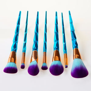 Unicorn Diamond Rainbow Face & Eye Professional Make Up Brush Kit Tools - Truly Yours, Fashion