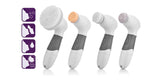 4 In 1 Electric Facial Cleanser Deep Cleansing Skin Care Blackhead Removal Washing Brush Massage Face Body Exfoliate Scrub - Truly Yours, Fashion