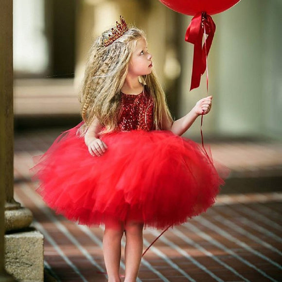 Heart Sequins Party Princess Tulle Dress - Truly Yours, Fashion