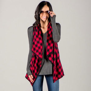 Plaid Vest - Truly Yours, Fashion