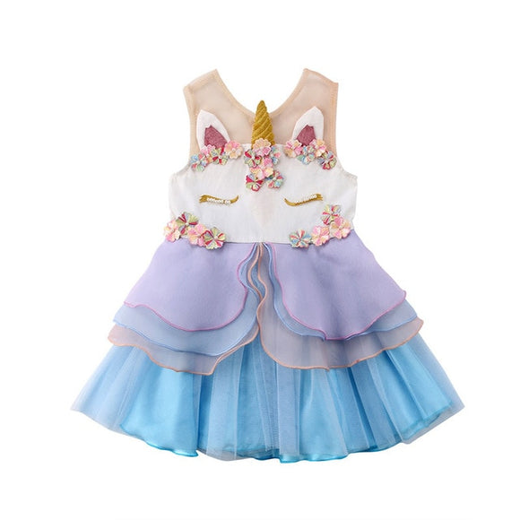 Unicorn Sleeveless Pageant Dress