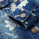 Floral Denim Jacket - Truly Yours, Fashion