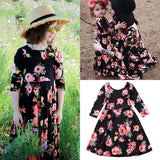 Mother and Daughter Floral Maxi Dress