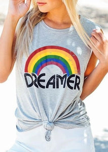 Dreamer Rainbow Print Tank - Truly Yours, Fashion