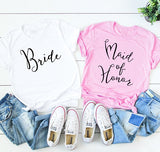 Bride and Maid Of Honor Tee - Truly Yours, Fashion