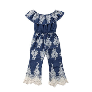 Embroidery Lace One Piece Jumpsuit Romper Dress - Truly Yours, Fashion