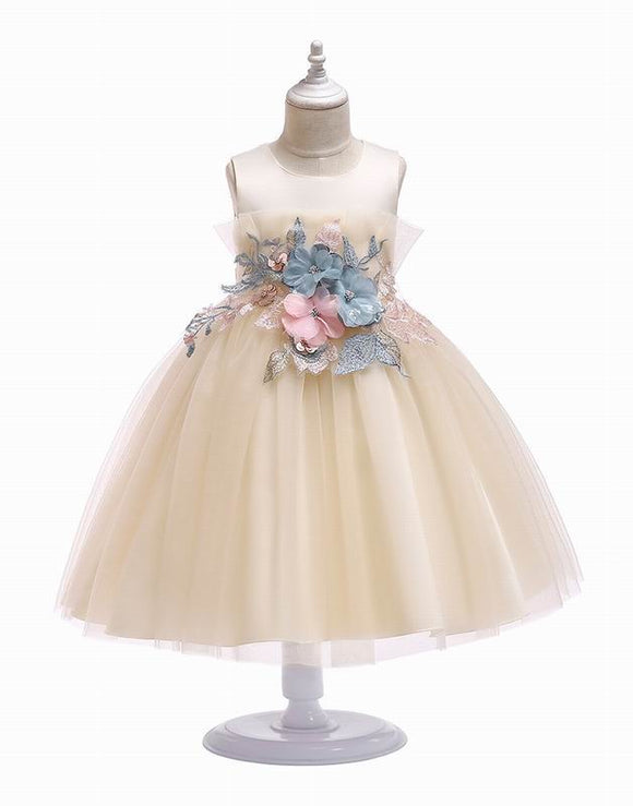Embroidery Sleeveless Princess Dress - Truly Yours, Fashion