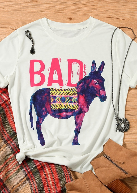 Bad Printed Tee - Truly Yours, Fashion