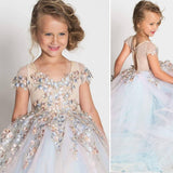 Satin with Tulle Lace Ball Gown