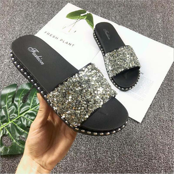 Glitter Sandal - Truly Yours, Fashion