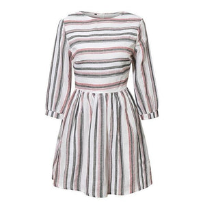 Stripe Long Sleeve Summer Dress