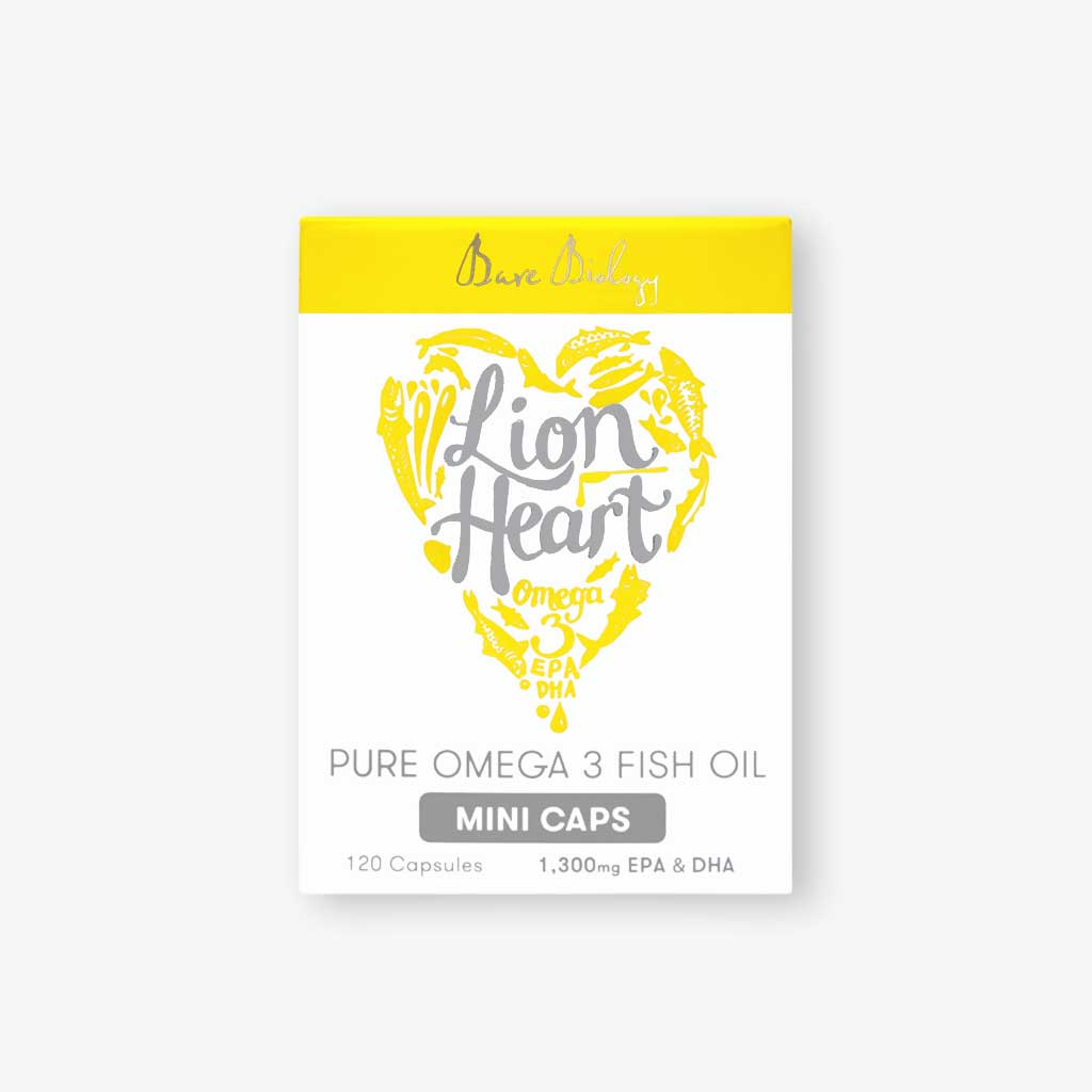 Lion Heart Liquid in small, easy-to-swallow capsules