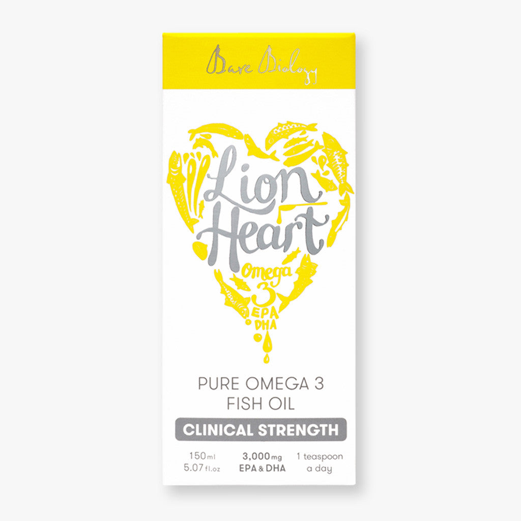 Lion Heart Omega 3 fish oil pack shot