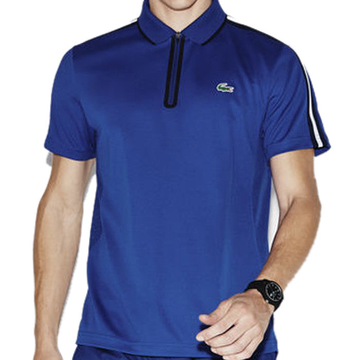 54736788a Men's Sport Ultra Dry Piqué Zipper Tennis Polo - Royal Blue/ Navy Blue –  King Of The North