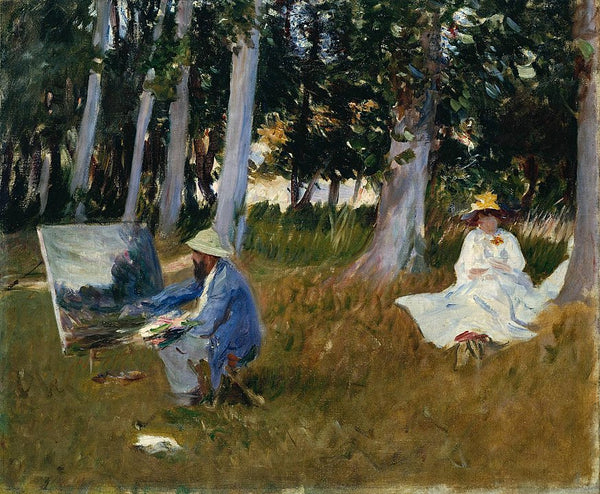 Claude Monet Painting on the edge of a wood, John Singer Sargent