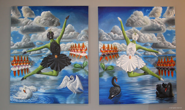 Black and White Swans by Haris Sardar