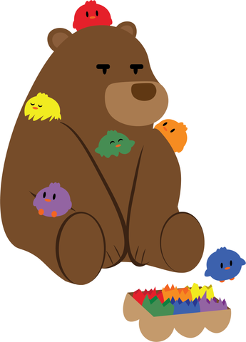 Pride Bear and Chicks by Graphic Meeps