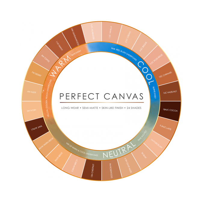 Perfect Canvas Airbrush Foundation 6-pack. Medium/Tan