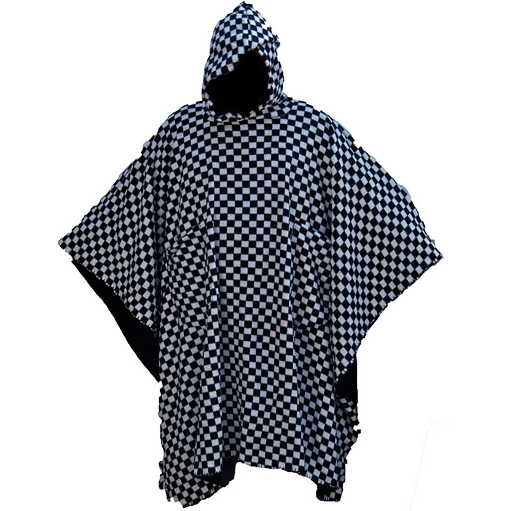 Double Sided Black & White Check Honcho