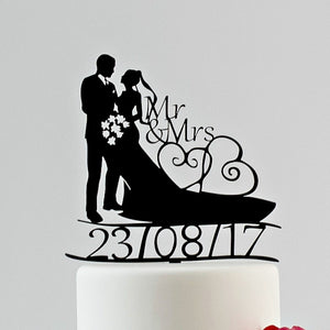 Dated Wedding Cake Toppers