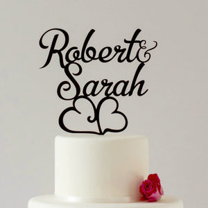 First Name or Surname Wedding Cake Toppers