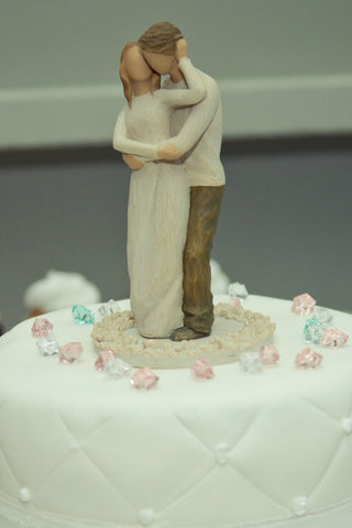 wedding cake topper, couple cake topper