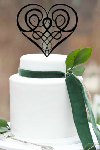 Irish wedding, getting married in Ireland, celtic wedding cake topper, irish wedding cake