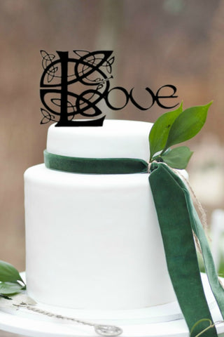 Celtic love wedding cake topper, irish cake topper, irish wedding cake topper