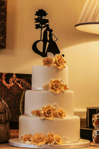 bride and groom wedding cake topper, romantic wedding cake topper