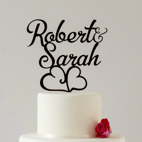 First name wedding or engagement cake topper