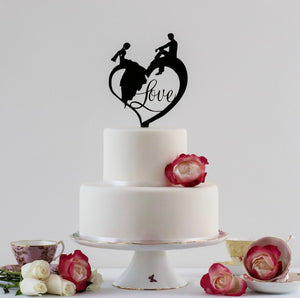 Fairytale Wedding Cake Topper (FREE SHIPPING)