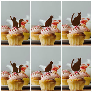Cat Cupcake Toppers (FREE SHIPPING)