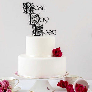 "Celtic Knot ""Best Day Ever"" Wedding Cake Topper"