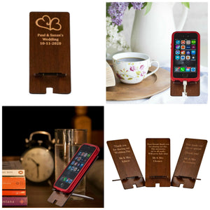 Phone Stand Wedding Favour - First names and date engraved (FREE SHIPPING)
